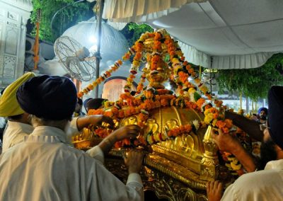 Palki Sahib ceremony at Golden Temple