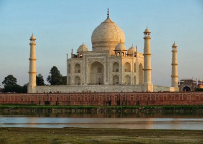 Taj Mahal from across the river