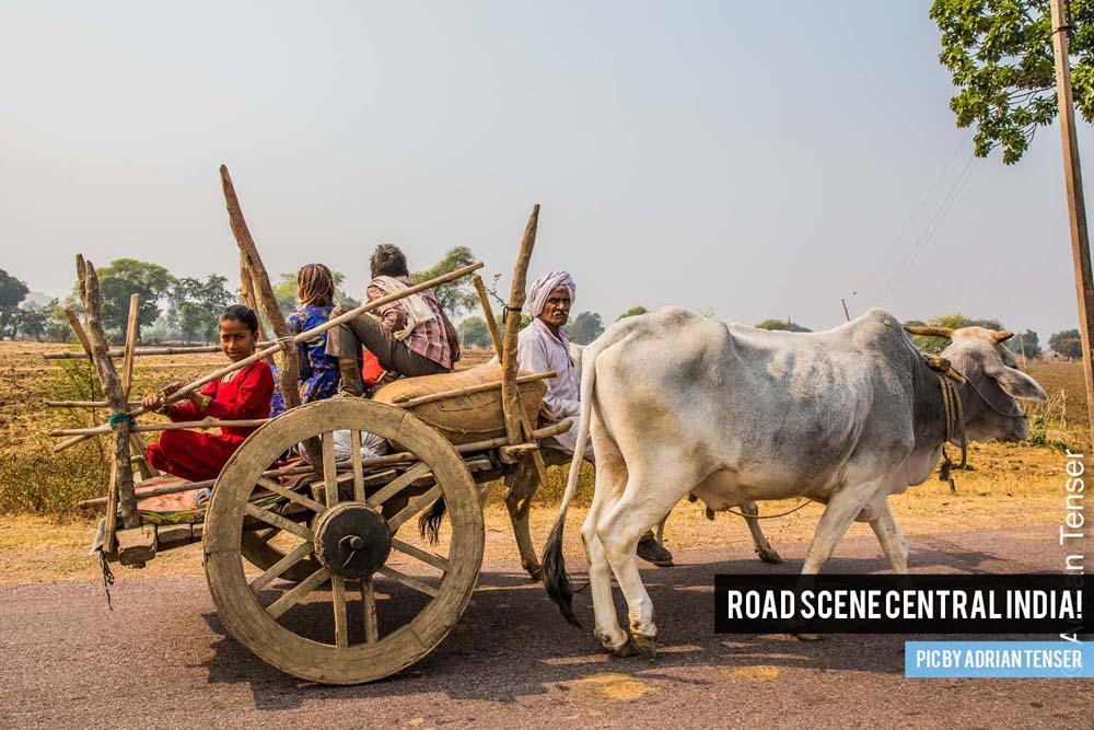 Road scene Central India!